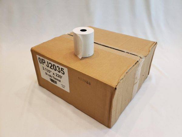 "3.125"" X 220' Thermal Paper, 50 rolls POS-X XR500 Clover Station Thermal paper star Cash Register POS System star tsp100 M224A TM-T88V Ruby Sapphire"