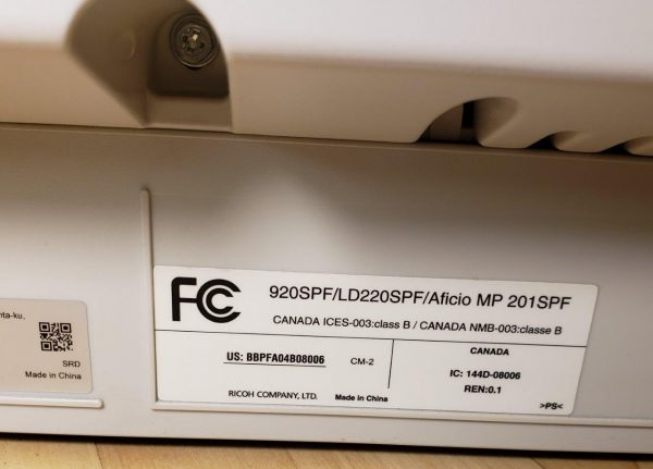 Ricoh Aficio MP 201SPF Black and White Laser Multifunction Printer 920SPF LD220SPF