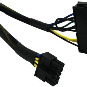 24 Pin to 10 Pin ATX PSU Main Power Adapter Braided Sleeved Cable